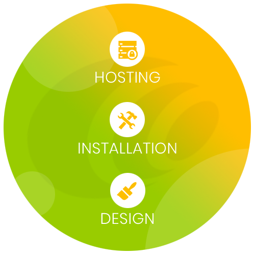 Unsere Services - Hosting, Installation, Individuelles Design