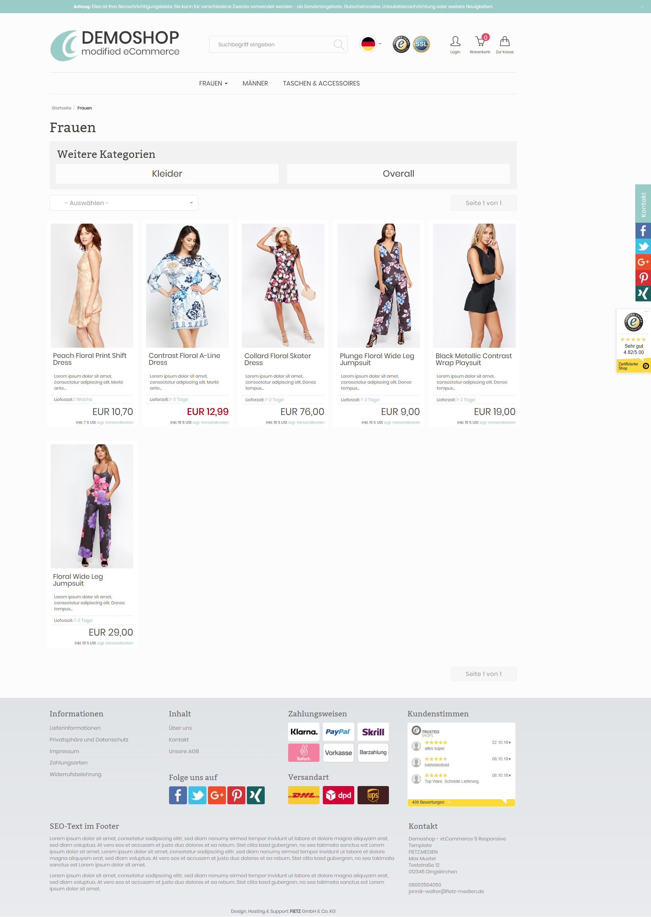 RevPlus - xt:Commerce 5 Template