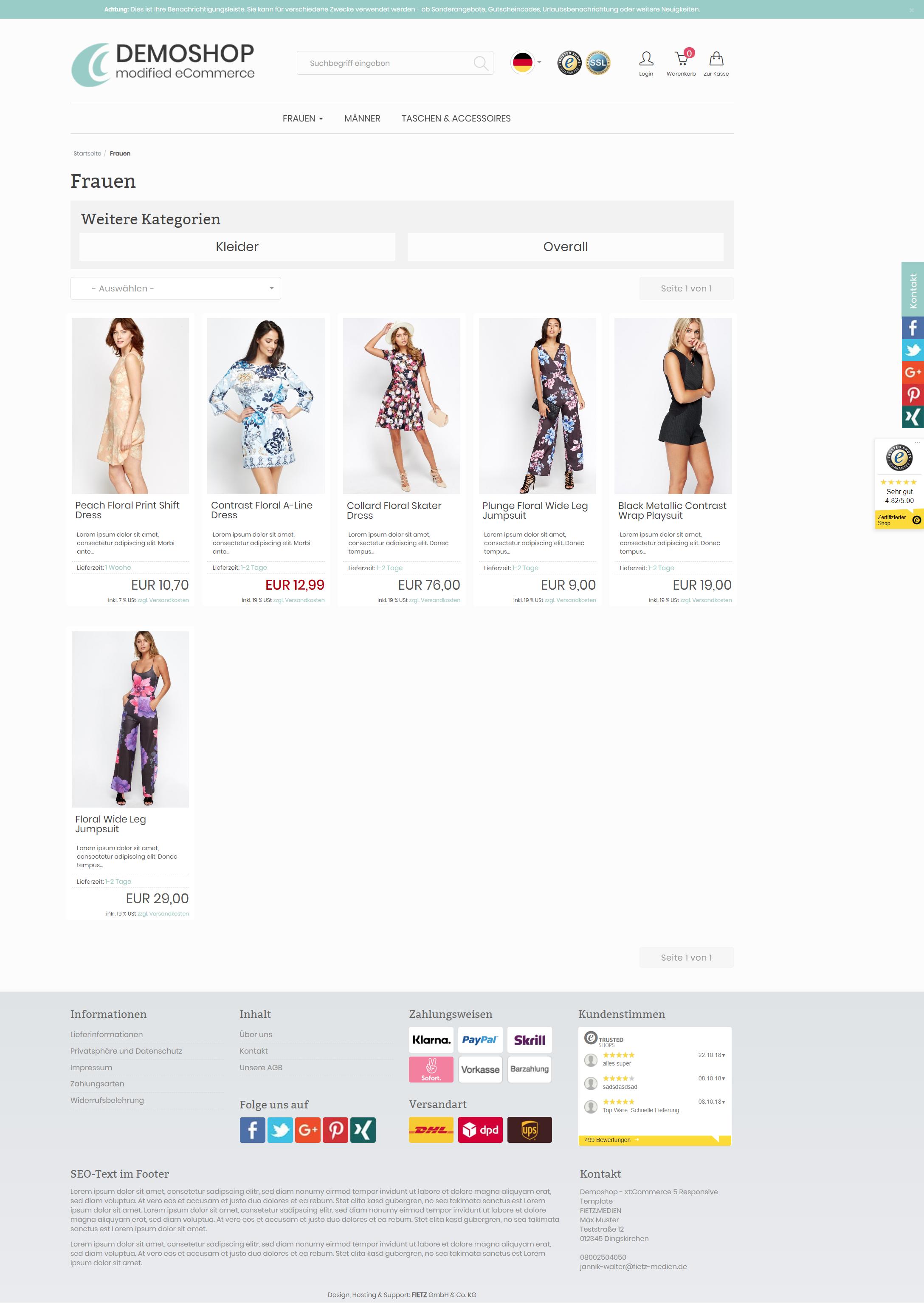 RevPlus - xt:Commerce 6 Template